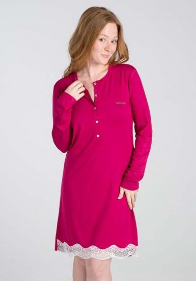 manam Малиновая женская ночная сорочка М_9696