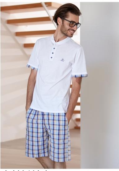 manam Клетчатые шорты и футболка для дома MU_8533