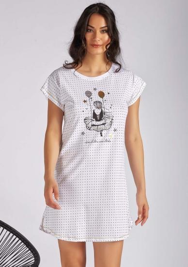 manam Легкая ночная сорочка в горошек M_10546