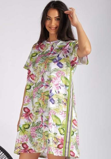 manam Домашнее платье с ярким цветочным рисунком M_10604