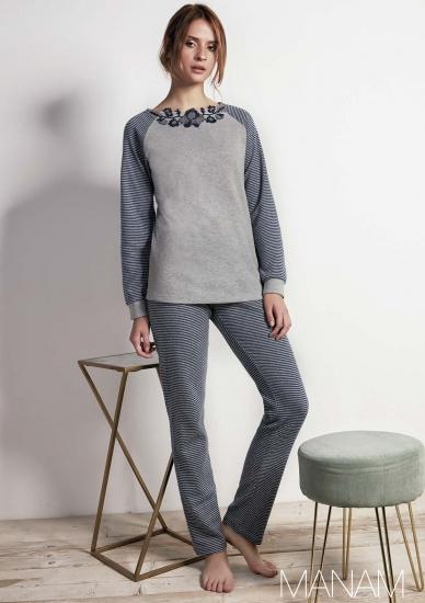 manam Теплая домашняя одежда в серых тонах M_10897