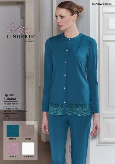 miss lingerie Женская пижама цвета морской волны DiBen_Aurora