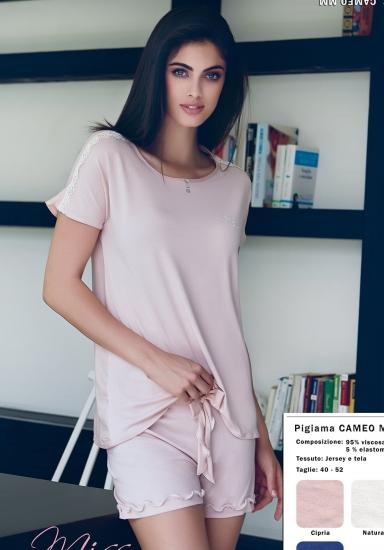 miss lingerie Летняя вискозная пижама с шортиками DiBen_Cameo