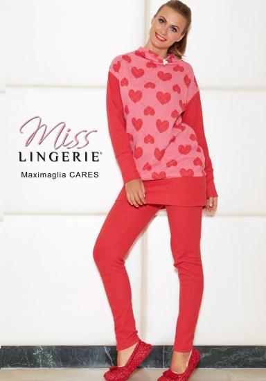 miss lingerie Красный теплый молодежный домашний комплект DiBen_Cares