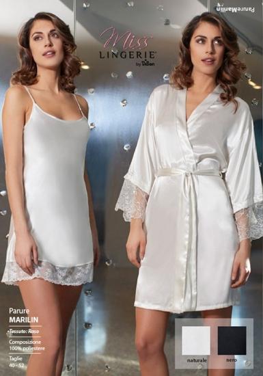 miss lingerie Ночная сорочка и халат с кружевной отделкой DiBen_Marilin