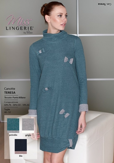 miss lingerie Уютное домашнее платье с бантиками DiBen_Teresa
