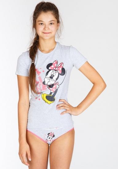 planetex Футболка и трусики для девочки-подростка с Minnie Planetex_WD29248 grigio