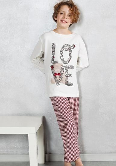 pop corn Пижама для девочек с надписью LOVE R6947