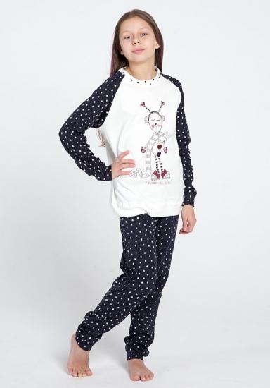 pop corn Пижама с сердечками для девочек и подростков R6948