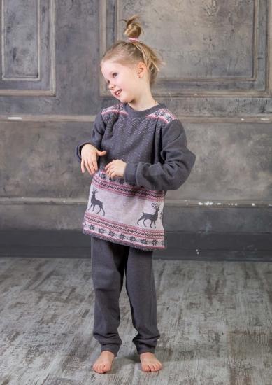 pop corn Теплая домашняя одежда для девочки R7382