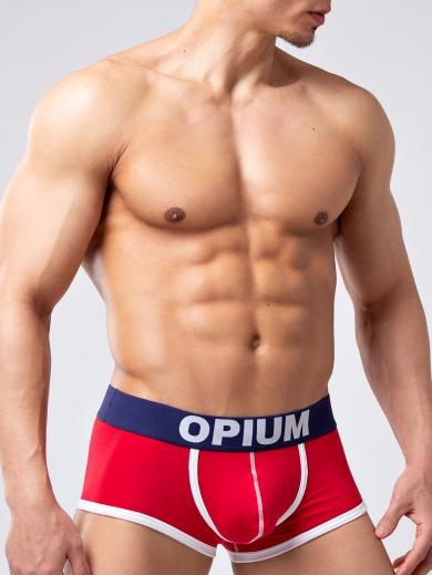 opium Трусы мужские R139 боксеры размер M Красный