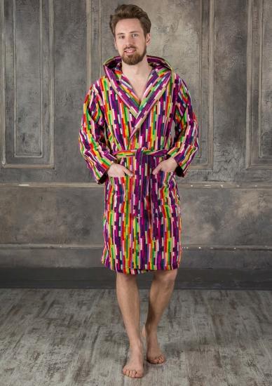 riviera carillo home Яркий мужской махровый халат Riviera_Fashion 02 uomo