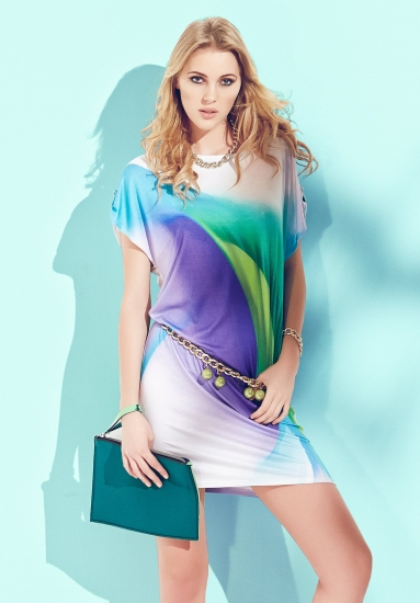 sunnyday Летнее платье-туника из струящейся вискозы DiBen_Santiago