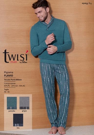 twisi Мужская домашняя одежда цвета морской волны Twisi_Flavio