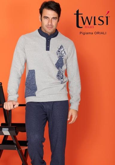 twisi Теплая мужская домашняя одежда из смесовой ткани Twisi_Oriali