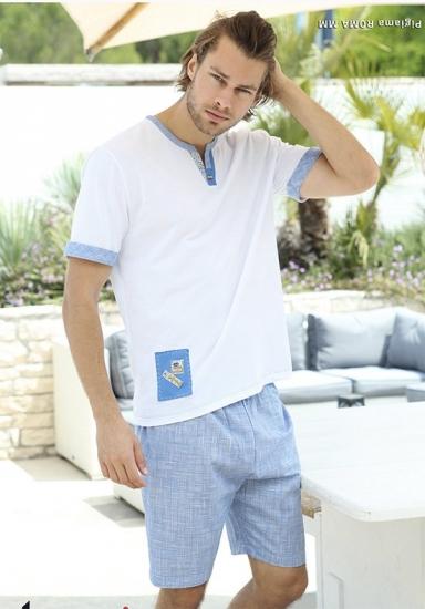 twisi Пижама мужская с белой футболкой Twisi_Roma
