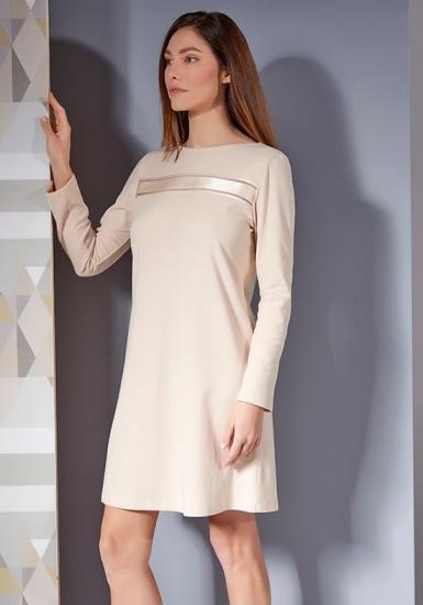 verdiani Теплая ночная сорочка нежно-персикового цвета VI_4808
