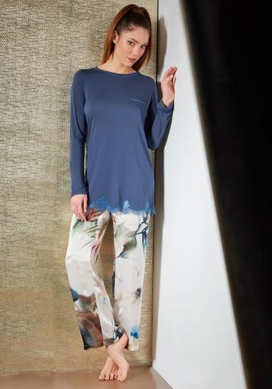 verdiani Шикарная женская пижама из натурального шелка и модала VI_4843