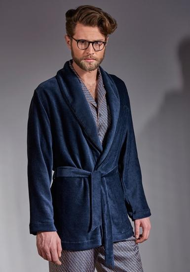 verdiani Роскошный велюровый короткий халат VI_5835