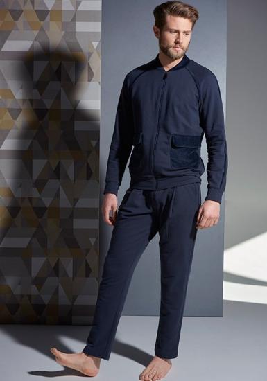 verdiani Синий мужской спортивный костюм на молнии VI_U5834