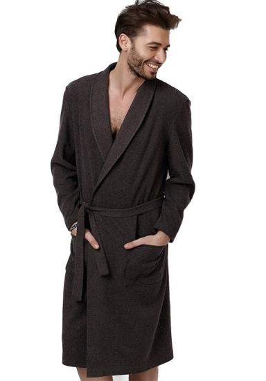vilfram Теплый трикотажный халат для мужчин VU_8410