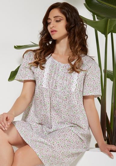 vilfram Классическая ночная сорочка в цветок V_10008