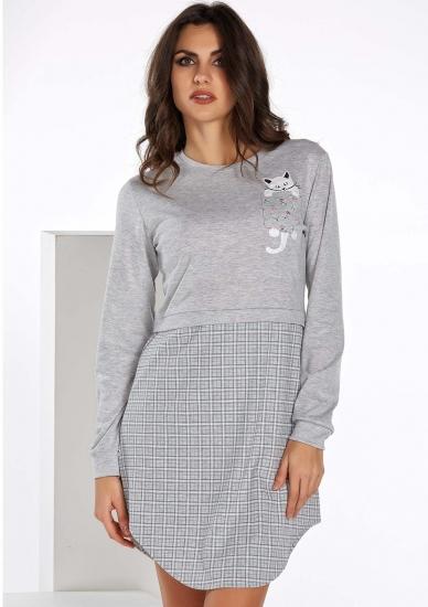 vilfram Короткая ночная рубашка с котиком V_10881