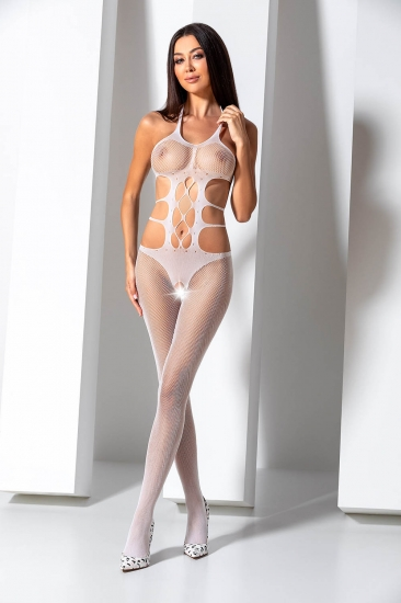 passion erotic line BS 084 White Боди-комбинезон