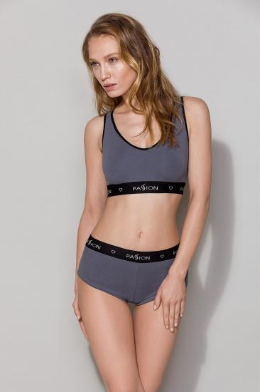 Трусы passion lingerie PS013 panties Dark Grey трусики-шорты