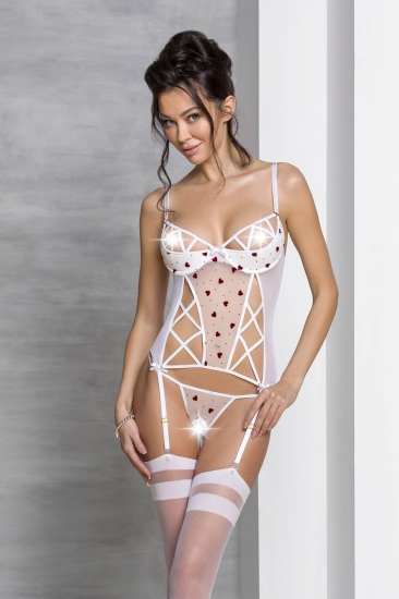 passion lingerie Lovelia corset White корсет