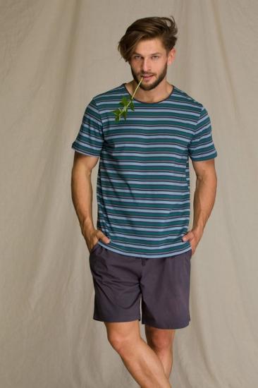 key MNS 351 2 A21 Пижама мужская с шортами