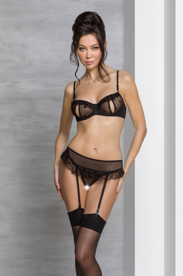 passion lingerie Lovelia set Black комплект