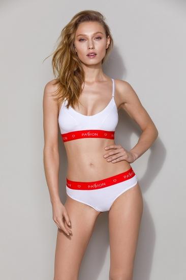 Трусы passion lingerie PS009 panties White трусики-бразилиана