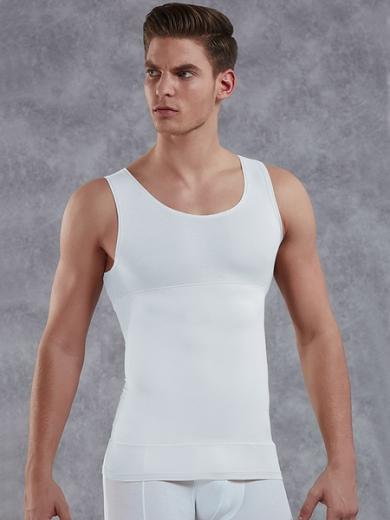 doreanse Мужская майка- корсет plus-size 5950P белая