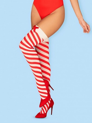 obsessive Kissmas stockings размер L/XL Красный