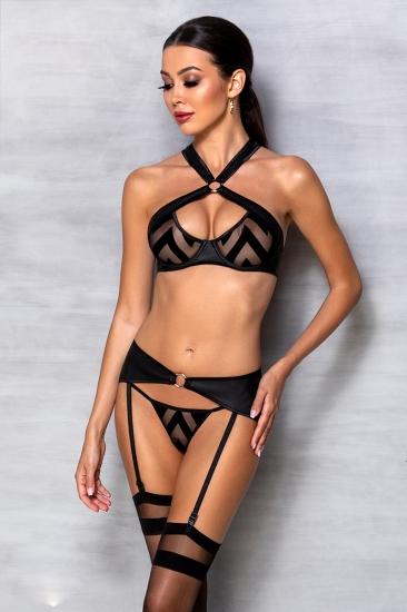 passion lingerie Hima set Black комплект
