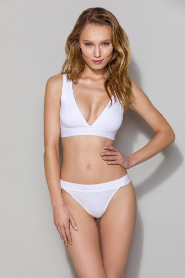 Бюстгальтер passion lingerie PS015 top White бюстгальтер-топ