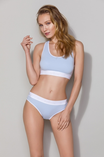 Трусы passion lingerie PS011 panties Blue трусики-слипы