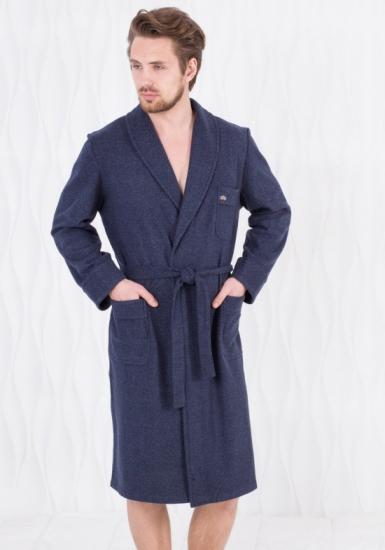 b&b Мужской домашний халат с карманами B&B_Devis