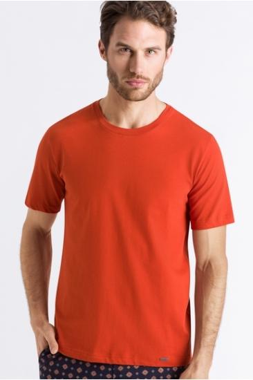 Футболка  Hanro Футболка 075050 Living Shirts (муж.) (Оранжевый 1767)