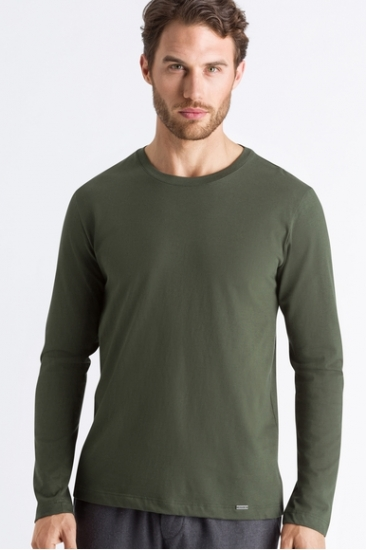 Футболка Hanro Футболка 075053 Living Shirts (муж.) (Зеленый 1736)