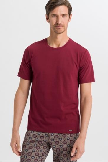 Футболка Hanro Футболка 075050 Living Shirts (муж.) (Бордовый 1456)