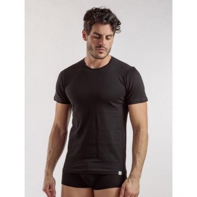 Футболка enrico coveri Мужская футболка черная EM1100