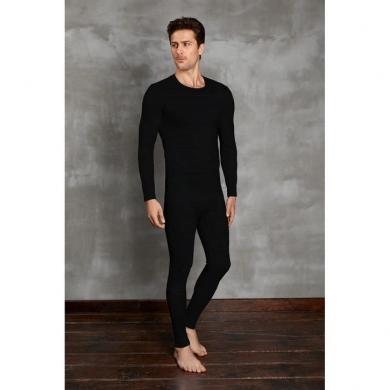 doreanse Мужская футболка с длинным рукавом термо черная 2990