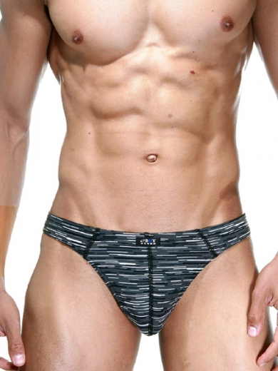 Трусы oboy Sexy Boy 06-5953-11 стринги мужские размер XL серый с принтом