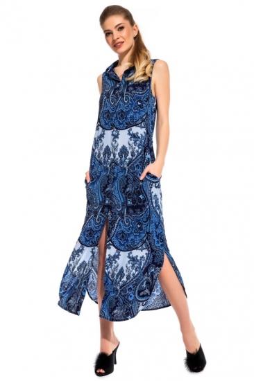 peche monnaie Платье - туника из вискозы Sunrise (PM france 221) синий