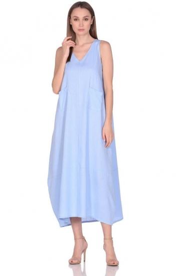 peche monnaie Платье из льна и вискозы Be Free (PM france 229) голубой