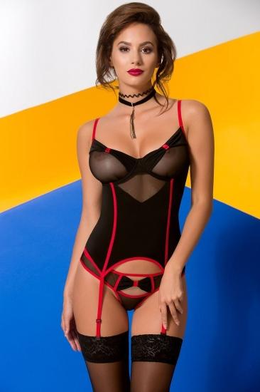 avanua Valentine corset Black