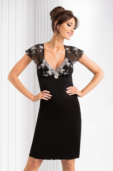 donna Valentine nightdress Black