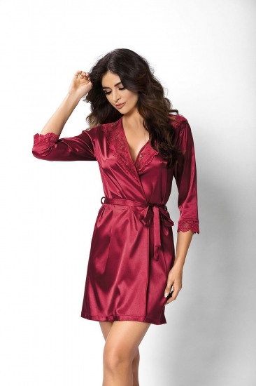 donna Venus dressing gown Burgundy